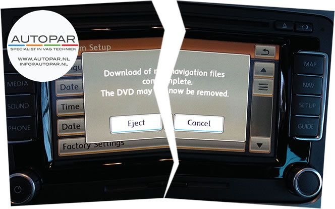 Autopar update RNS510 error Columbus