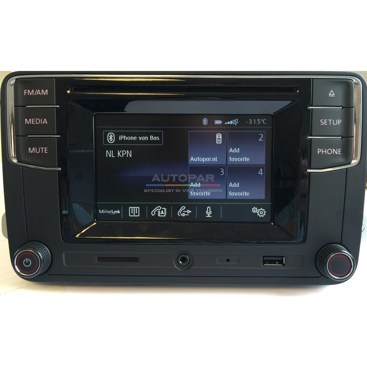 RCD650 Volkswagen bluetooth radio