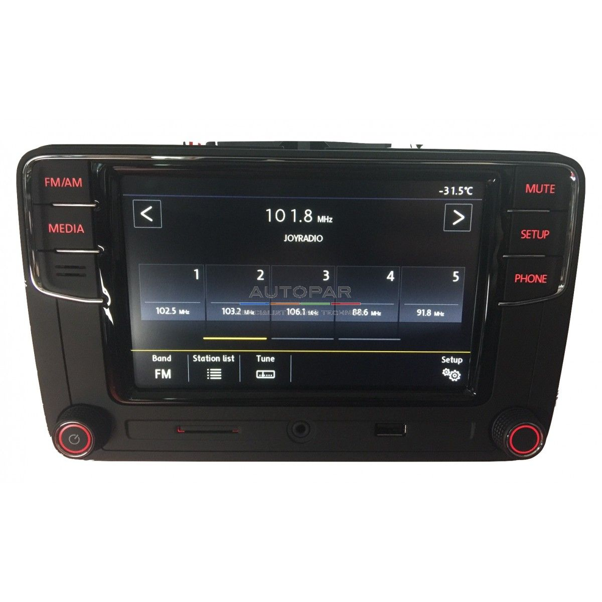 RCD660 Multimedia bluetooth radio Volkswagen voorkant