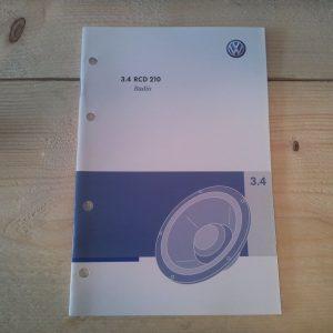Handleiding / Instructieboekje RCD 210 / RCD 215 radio's | origineel VW -0
