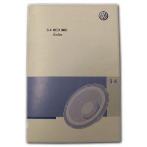 Handleiding / Instructieboekje RCD 310 radio's | origineel VW-0