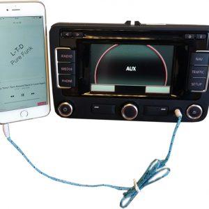 AUX-IN Audio kabel VW, Seat, Skoda, Audi: Verschillende lengtes-0