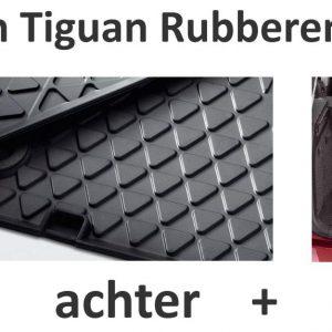 Rubberen matten VW Tiguan voor + achter + kofferbak-0