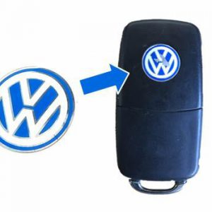 Volkswagen logo blauw wit sleutel