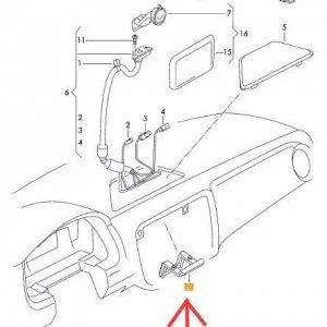 Steun (metaal) voor Navigatie Navigon of Garmin VW Up! Skoda Citigo Seat Mii Ibiza-0