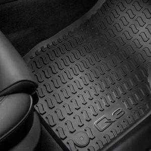 Audi Q3 inleg rubberen voetmatten set voor-0