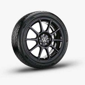 Lichtmetalen velg Motorsport origineel Volkswagen, 8 J x 19 zwart 1K8071499A AX1-0