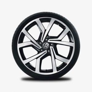 Lichtmetalen velg Brescia origineel Volkswagen, 7.5 J x 19, hoogglans zwart 5G0071499B fzz-0