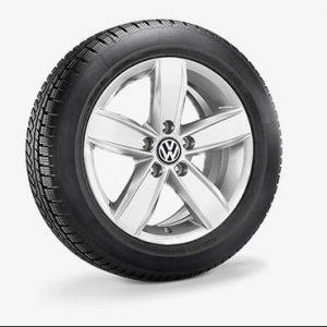 Lichtmetalen velgen Corvara Volkswagen, 6.5 J x 16, brilliant silver 2H0071496B 8Z8-0