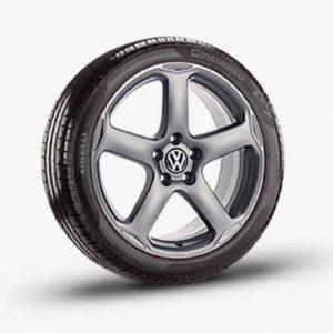 Lichtmetalen velg Khartoum origineel Volkswagen, 8 J x 18, titanium 1K0071498 V7U-0