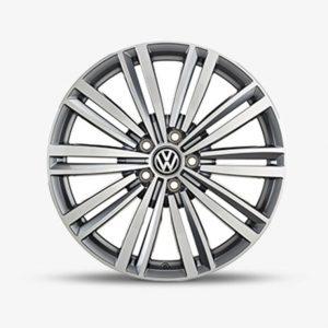 Lichtmetalen velg Luxor origineel Volkswagen, 7.5 J x 19, antraciet glansgedraaid 5G0071499A ZD8-0