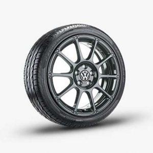 Lichtmetalen velg Motorsport origineel Volkswagen, 7.5 J x 18, antraciet 5K0071498A 16Z-0