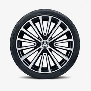 Lichtmetalen velg Polygon origineel Volkswagen Up!, 6,5 J x 17, hoogglans zwart 1S0071497 fzz-0