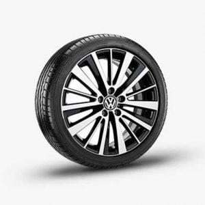 Lichtmetalen velg Preston origineel Volkswagen, 7.5 J x 18, hoogglans zwart 5C5071498 AX1-0