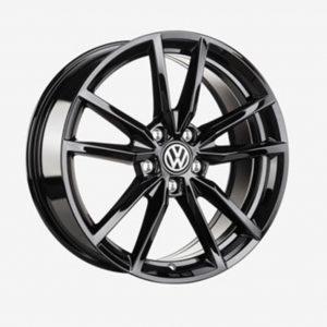 Lichtmetalen velg Pretoria origineel Volkswagen, 7.5 J x 18, hoogglans zwart 5G0071498A AX1-0
