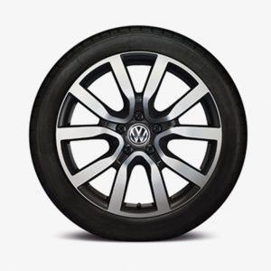 Lichtmetalen velg Serron origineel Volkswagen, 7.5 J x 18, zwart 5K0071498B AX1-0