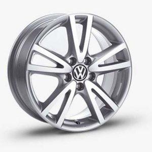 Lichtmetalen velg Vision origineel Volkswagen, 7 J x 17, sterling zilver 1K5071497 666-0