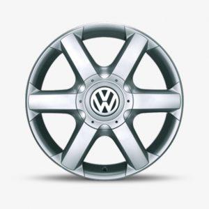 Lichtmetalen velg Suez origineel Volkswagen, 7,5 J x 17, briljantzilver 7H0071497 666-0