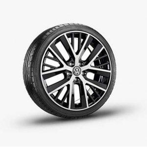 Lichtmetalen velg Twin Spoke origineel Volkswagen, 7,5 J x 19 hoogglans zwart 5G0071499 fzz-0