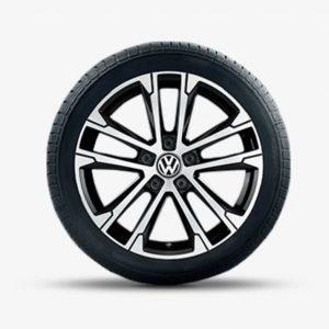 Lichtmetalen velg Singapore origineel Volkswagen, 7 J x 17, hoogglans zwart 3G0071497A FZZ-0