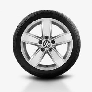 Lichtmetalen velg Corvara origineel Volkswagen, 6,5 J x 17, brilliantsilver 5NA071497 8Z8-0