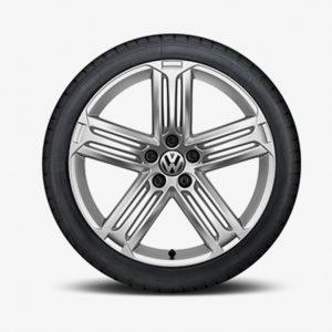 Lichtmetalen velg Talladega origineel Volkswagen, 8 J x 19, sterling zilver 1K8071499B 88Z-0