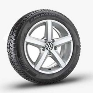 Lichtmetalen velgen Aspen Volkswagen, 6 J x 15, brilliant silver 5K0071495 8Z8-0