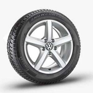 Lichtmetalen velgen Aspen Volkswagen, 6 J x 16, brilliant silver 5K0071496 8Z8-0