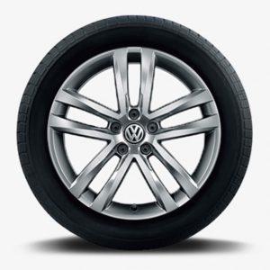 Lichtmetalen velg Salvador origineel Volkswagen, 6,5 J x 17, galvano grijs metallic 5TA071497 Z49-0