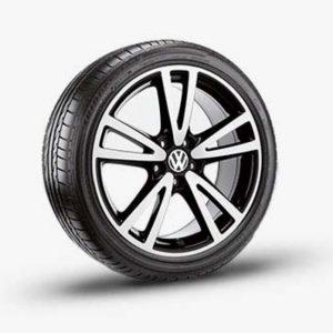 Lichtmetalen velg Vision origineel Volkswagen, 7 J x 17, hoogglans zwart 1K5071497 041-0