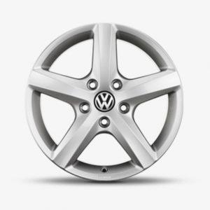 Lichtmetalen velgen Aspen Volkswagen, 7 J x 17, brilliant silver 7H0071497B 8Z8-0