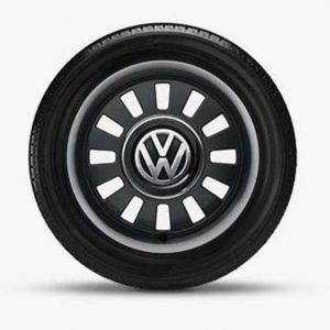 Lichtmetalen velgen Classic Volkswagen, 6.5 J x 16, black glanzend 1S0071496B FZZ-0