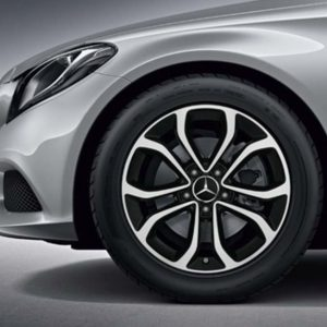 Lichtmetalen velgen Mercedes Benz, C-klasse, multispaaks velg 17 inch glanzend -0