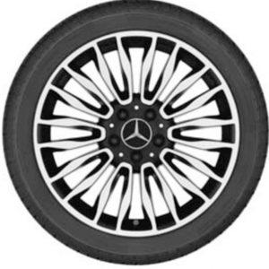 Lichtmetalen velgen Mercedes Benz, C-klasse, multispaaks velg 18 inch glanzend -0
