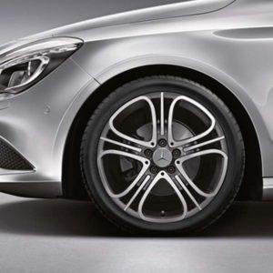 Lichtmetalen velgen Mercedes Benz, vijf-driedubbelspaaks velg 18 inch glanzend-0