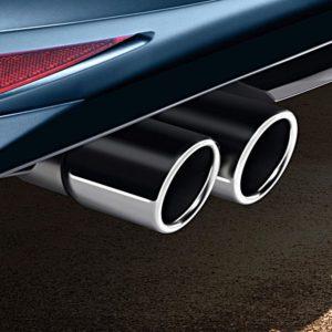 Dubbele uitlaatsierstuk Volkswagen origineel-0