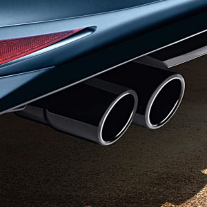 Dubbele uitlaatsierstuk Volkswagen origineel zwart verchroomd RVS-0