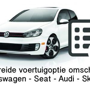 VW Audi Seat Skoda Persoonlijk voertuigoptie overzicht