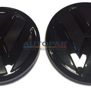 Polo 6C zwart embleem voor en achter