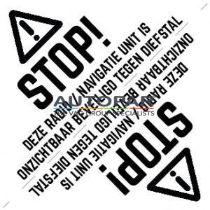 Anti diefstal sticker VW radio navigatie