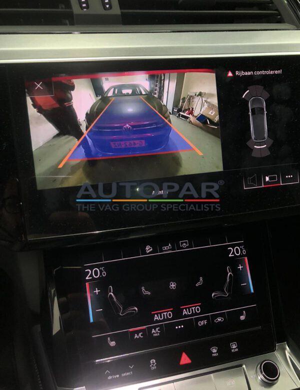 Audi E-Tron camera beeld achteruitrijcamera