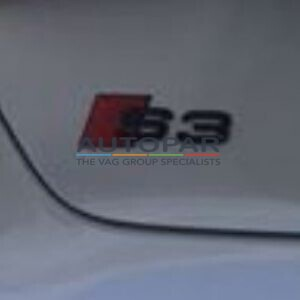 Audi S3 zwart embleem achterklep A3