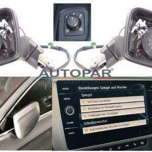 VW Golf 8 Automatisch inklapbare spiegels