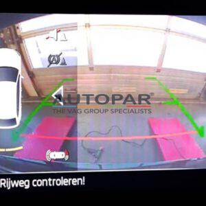 Achteruitrijcamera Skoda Enyaq beeld display